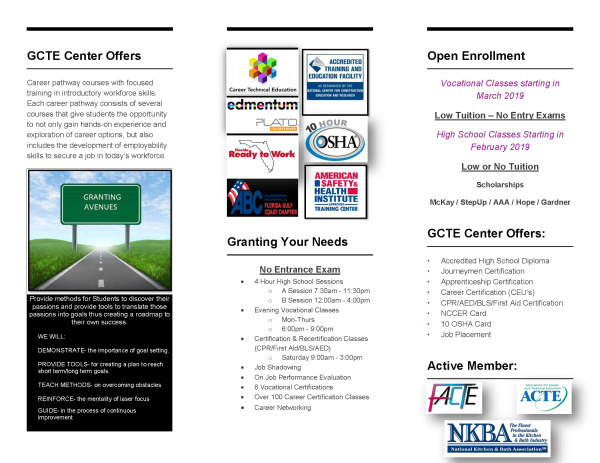 GCTE Center Flyer Side B